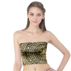 Gold Roman Shield Costume Tube Top
