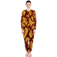 Snake Skin Pattern Vector Onepiece Jumpsuit (ladies)