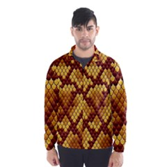 Snake Skin Pattern Vector Wind Breaker (men)