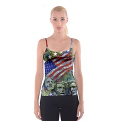 Usa United States Of America Images Independence Day Spaghetti Strap Top