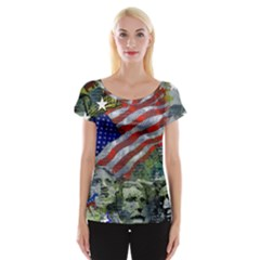 Usa United States Of America Images Independence Day Cap Sleeve Tops