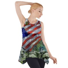 Usa United States Of America Images Independence Day Side Drop Tank Tunic