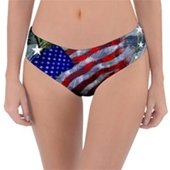 Usa United States Of America Images Independence Day Reversible Classic Bikini Bottoms