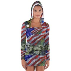 Usa United States Of America Images Independence Day Long Sleeve Hooded T Shirt