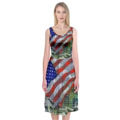 Usa United States Of America Images Independence Day Midi Sleeveless Dress