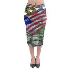 Usa United States Of America Images Independence Day Midi Pencil Skirt