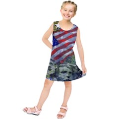 Usa United States Of America Images Independence Day Kids  Tunic Dress
