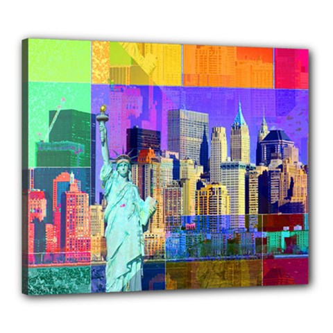 New York City The Statue Of Liberty Canvas 24  X 20