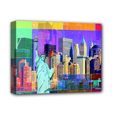 New York City The Statue Of Liberty Deluxe Canvas 14  X 11