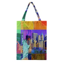 New York City The Statue Of Liberty Classic Tote Bag