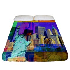 New York City The Statue Of Liberty Fitted Sheet (california King Size)