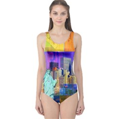 New York City The Statue Of Liberty One Piece Swimsuit