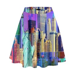 New York City The Statue Of Liberty High Waist Skirt