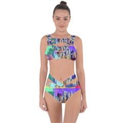 New York City The Statue Of Liberty Bandaged Up Bikini Set