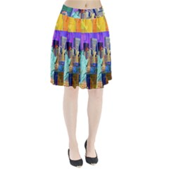 New York City The Statue Of Liberty Pleated Skirt