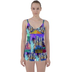New York City The Statue Of Liberty Tie Front Two Piece Tankini