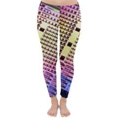 Optics Electronics Machine Technology Circuit Electronic Computer Technics Detail Psychedelic Abstra Classic Winter Leggings