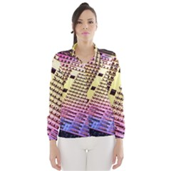Optics Electronics Machine Technology Circuit Electronic Computer Technics Detail Psychedelic Abstra Wind Breaker (women)