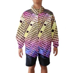 Optics Electronics Machine Technology Circuit Electronic Computer Technics Detail Psychedelic Abstra Wind Breaker (kids)
