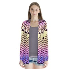 Optics Electronics Machine Technology Circuit Electronic Computer Technics Detail Psychedelic Abstra Drape Collar Cardigan