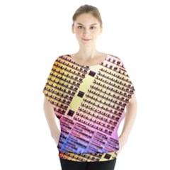 Optics Electronics Machine Technology Circuit Electronic Computer Technics Detail Psychedelic Abstra Blouse