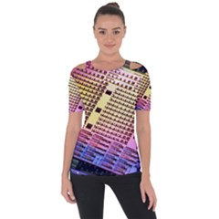 Optics Electronics Machine Technology Circuit Electronic Computer Technics Detail Psychedelic Abstra Short Sleeve Top
