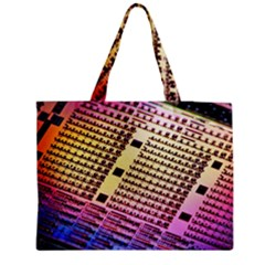 Optics Electronics Machine Technology Circuit Electronic Computer Technics Detail Psychedelic Abstra Medium Tote Bag