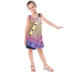 Optics Electronics Machine Technology Circuit Electronic Computer Technics Detail Psychedelic Abstra Kids  Sleeveless Dress