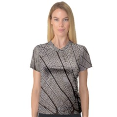 Sea Fan Coral Intricate Patterns V Neck Sport Mesh Tee