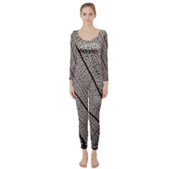 Sea Fan Coral Intricate Patterns Long Sleeve Catsuit