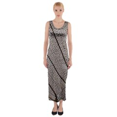 Sea Fan Coral Intricate Patterns Fitted Maxi Dress