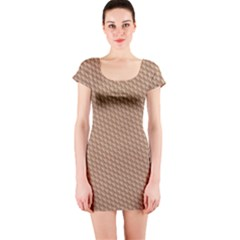 Tooling Patterns Short Sleeve Bodycon Dress