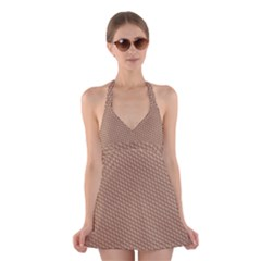 Tooling Patterns Halter Swimsuit Dress