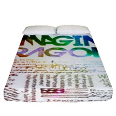 Imagine Dragons Quotes Fitted Sheet (queen Size)