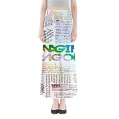 Imagine Dragons Quotes Full Length Maxi Skirt