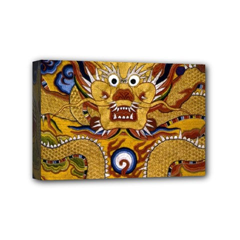 Chinese Dragon Pattern Mini Canvas 6  X 4