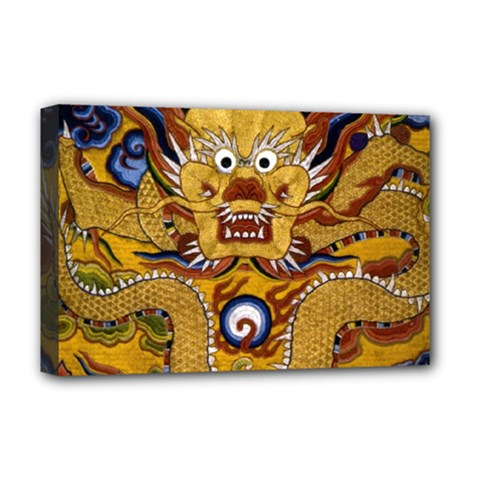 Chinese Dragon Pattern Deluxe Canvas 18  X 12
