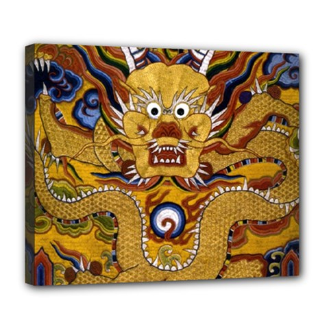 Chinese Dragon Pattern Deluxe Canvas 24  X 20
