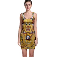 Chinese Dragon Pattern Bodycon Dress
