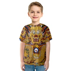 Chinese Dragon Pattern Kids  Sport Mesh Tee