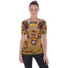 Chinese Dragon Pattern Short Sleeve Top