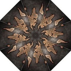 Grunge Map Of Earth Folding Umbrellas