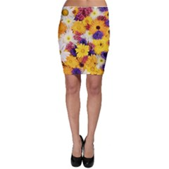 Colorful Flowers Pattern Bodycon Skirt