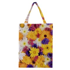 Colorful Flowers Pattern Classic Tote Bag