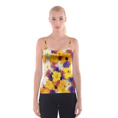 Colorful Flowers Pattern Spaghetti Strap Top