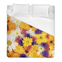 Colorful Flowers Pattern Duvet Cover (full/ Double Size)