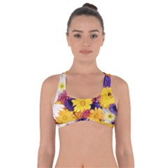 Colorful Flowers Pattern Got No Strings Sports Bra