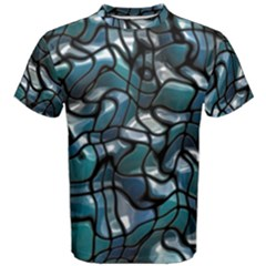 Old Spiderwebs On An Abstract Glass Men s Cotton Tee