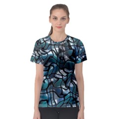 Old Spiderwebs On An Abstract Glass Women s Sport Mesh Tee