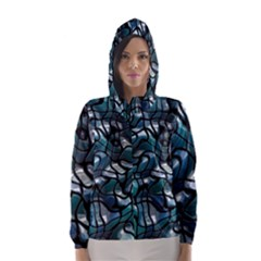 Old Spiderwebs On An Abstract Glass Hooded Wind Breaker (women)